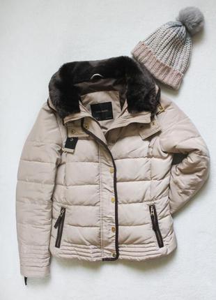 🍀 куртка пуховик от zara, размер l