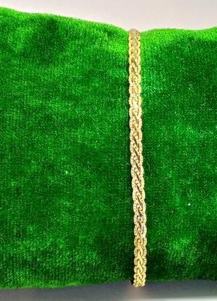 """Позолоченный браслет """"клеопатра"""" 20 см/3 мм, позолота"""