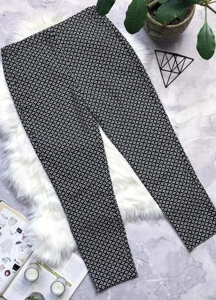 Крутые коттоновые брюки в принт f&f