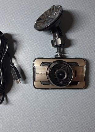 """Автомобильный видеорегистратор T669, 3"""", металл, 1080P Full HD"""