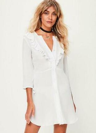 Missguided. товар из англии. пляжное платье рубашка с воланами.