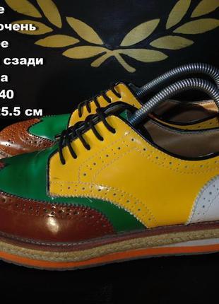 Entente туфли -броги женские размер 40