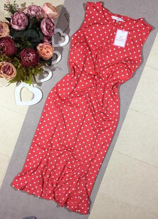 Новое!!! шикарное платье в горошек.