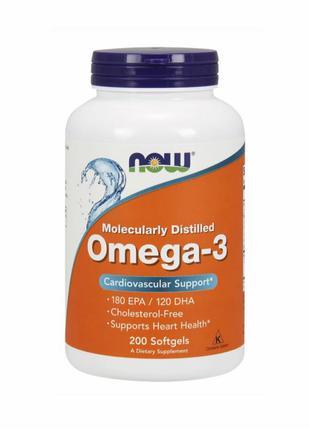 Омега-3 NOW Foods 200 капсул