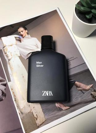 Zara silver духи парфюмерия туалетная вода