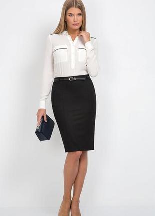 Стильная классическая юбка с пояском размер 14-16 (46-48)