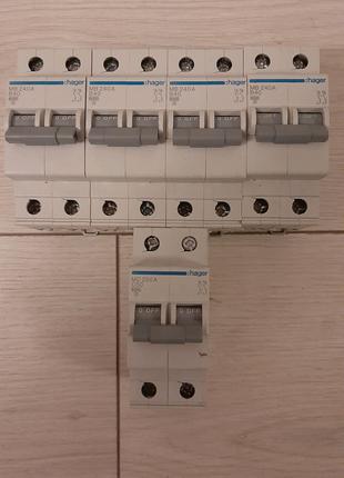 2-х полюсные автоматы hager B40