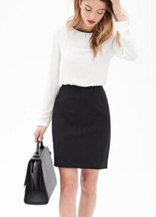 Чёрная юбка карандаш. юбка классическая высокая посадка