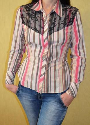 Рубашка с гипюром дольче габбана dg (dolce gabbana)