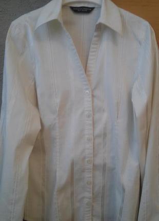 Блузка-рубашка молочного цвета