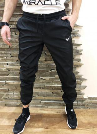 Спортивные штаны (плащевка) nike black