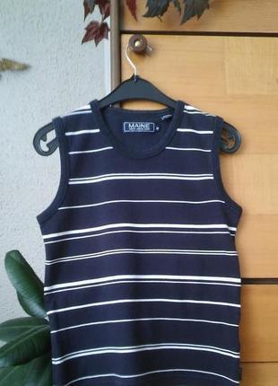 Майка-футболка в актуальном морском стиле