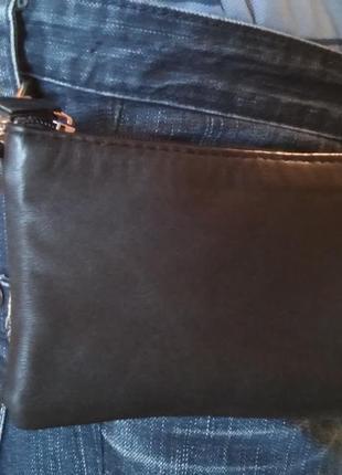 Мужская кожаная сумочка-кошелек