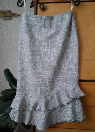 Серая юбка с воланами
