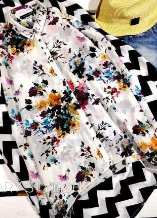 Блузка шифон в цветы