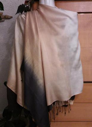 Шикарный шарф-палантин из натурального шелка, индия
