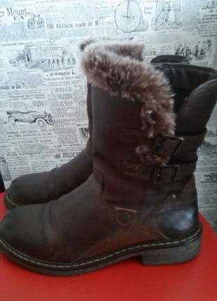 Добротные кожаные полусапожки-ботинки, распродажа!!!