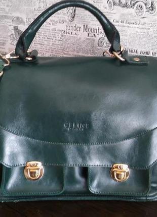 Кожаная сумка-портфель celine