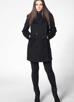 Пальто черное, сезон весна-осень