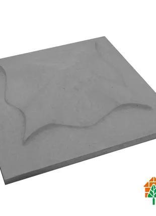 Крышки кирпичного забора «КВІТКА» 450х450 мм. цвет серый,вес 24кг