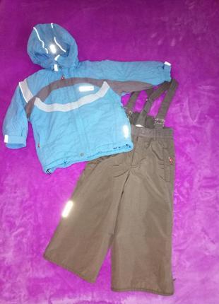 86-92 reima kiddo. демисезонный термо костюм. курточка и штани...