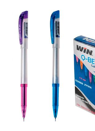 Ручка гелевая QBE WIN черная (12 шт.)