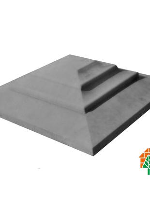 Крышка для кирпичного забора «КАРПАТИ» 310х310, цвет серый, вес 1