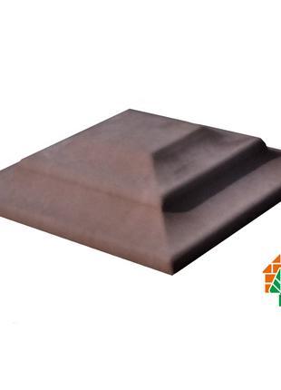 Крышка для кирпичного забора «КАРПАТИ» 310х310, цвет коричневый,