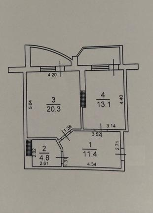 1 комнатная квартира на Говорова