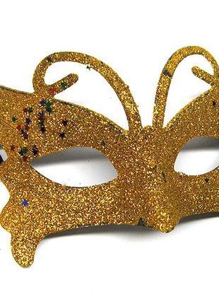 Маска карнавальная женская Бабочка 4040-25