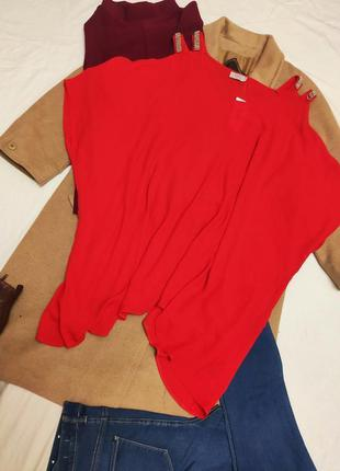 Блуза блузка большая батал оверсайз свободная с открытыми плеч...