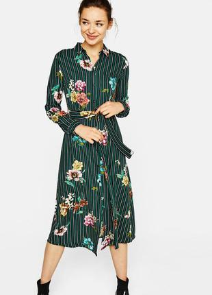 Платье рубашка принт