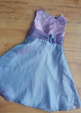 Нарядное платье детское сиреневое на 2-4 годика
