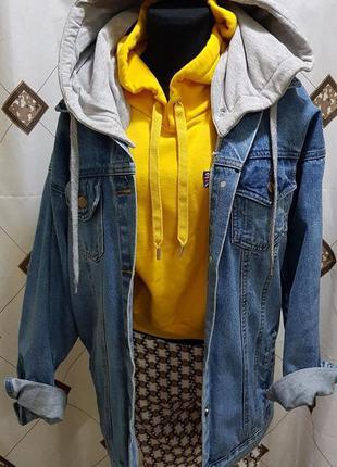 Джинсовая куртка oversize vintage style