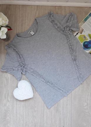 Модная футболка свободный фасон размер с h&m