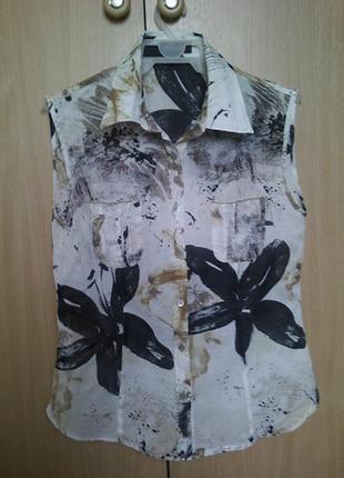 Блуза/рубашка невесомая р. s-m