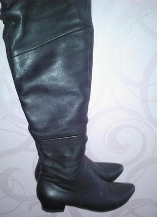 Сапоги/ботфорты демисезонные р.37 кожаные