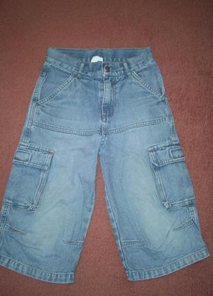 Бриджи джинсовые на р. 128