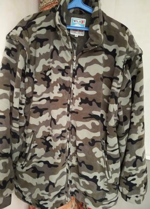 Куртка на флисе,р 50-54.