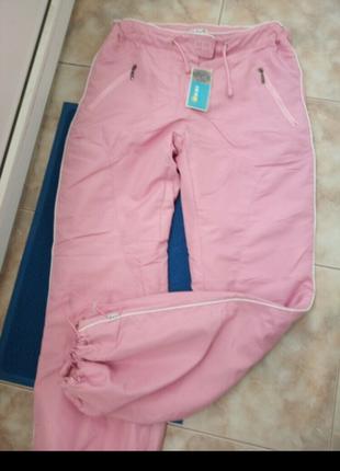 Спортивные утепленные штаны,на флисе.