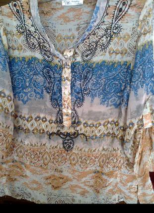 Блуза шифоновая.р.48.