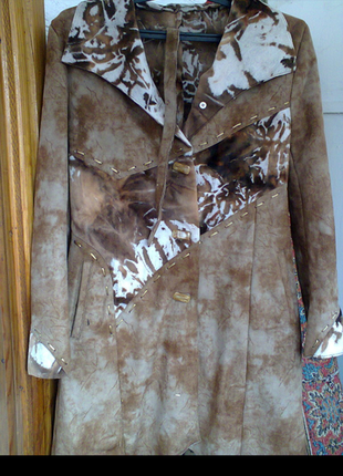 Пальто замшевое.