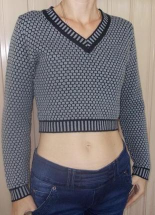 Джемпер укороченный молодежный новый (кофта/свитер)