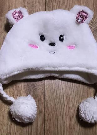 Мягкая шапка мишка