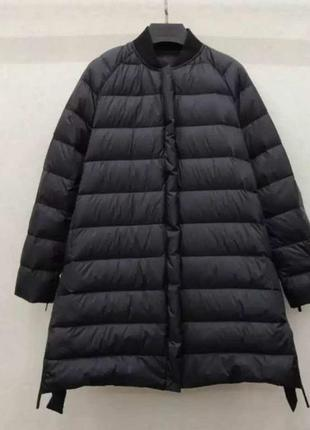 Удлиненная куртка пуховик деми