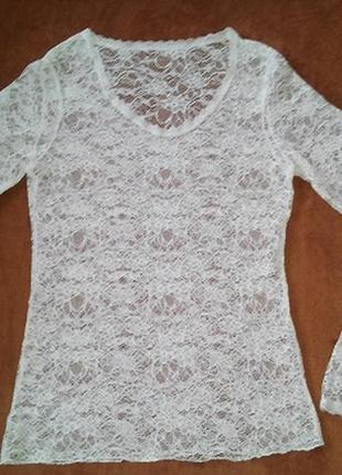 Кружевная блуза s-m