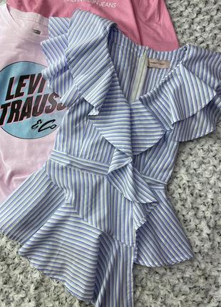 Красивейшая рубашка с оборками в полоску twenty easy
