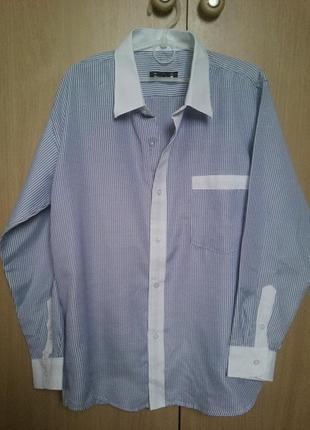 Рубашка в полосочку на 10-12 лет