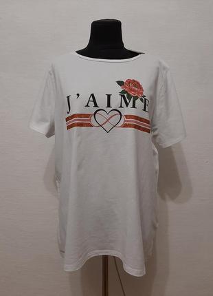 Стильная модная футболка большого размера