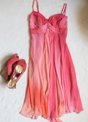 Летнее платье з градиентом, размер s ❤️